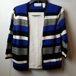 Alfred Dunner twinset sweater PS